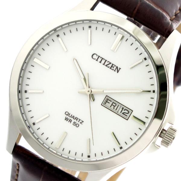 シチズン CITIZEN 腕時計 時計 BF2001-12A クォーツ ホワイト ブラウン