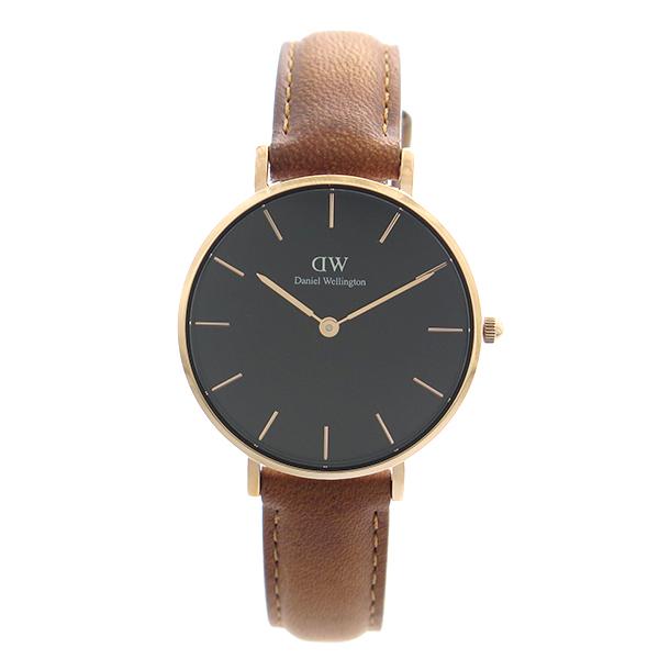 ダニエルウェリントン DANIEL WELLINGTON 腕時計 レディース DW00100166 クォーツ ブラック ブラウン