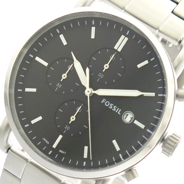 フォッシル FOSSIL 腕時計 メンズ FS5399 クォーツ ブラック シルバー【送料無料】
