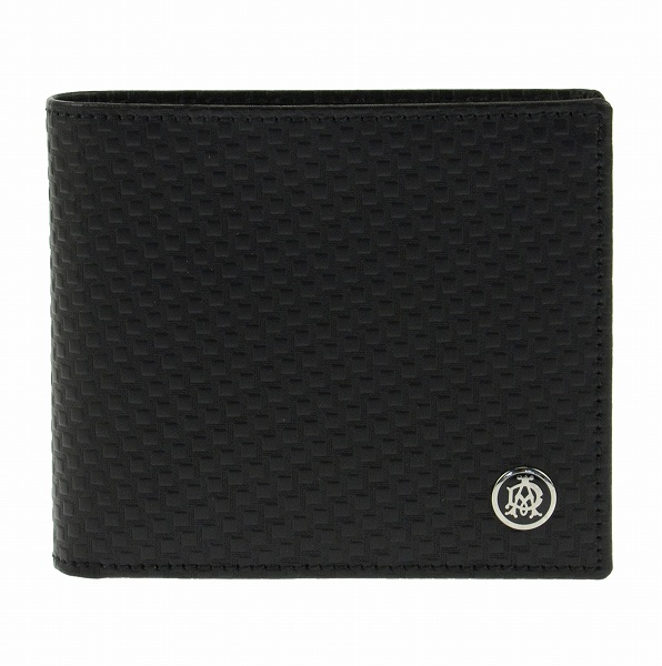 ダンヒル DUNHILL 二つ折り財布 メンズ L2V332A ブラック【送料無料】