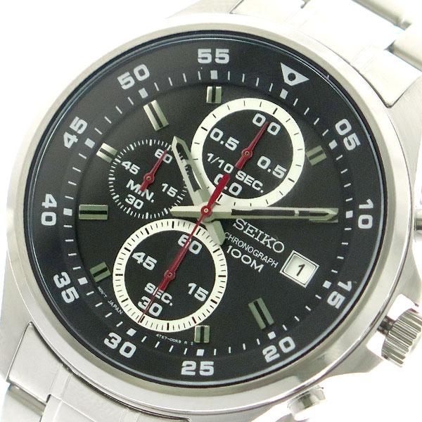 セイコー SEIKO 腕時計 メンズ SKS627P1 クォーツ ブラック シルバー【送料無料】