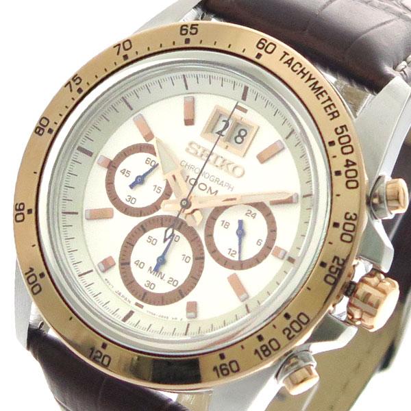 セイコー SEIKO 腕時計 メンズ SPC246P1 クォーツ ホワイト ブラウン【送料無料】