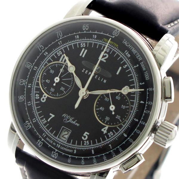 ツェッペリン ZEPPELIN 腕時計 メンズ 7674-4 クォーツ ブラック【送料無料】