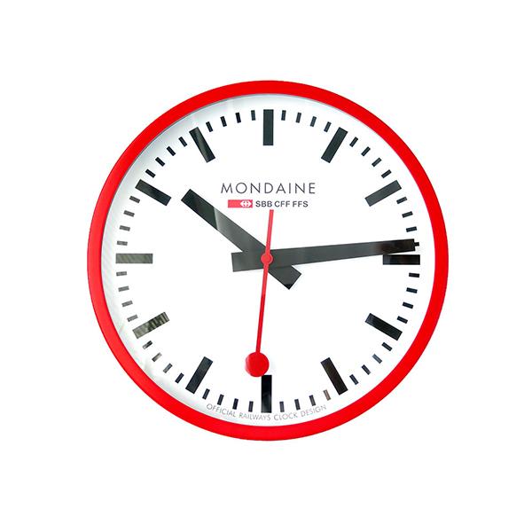 モンディーン MONDAINE 掛け時計 A995.CLOCK.11SBC レッド【送料無料】