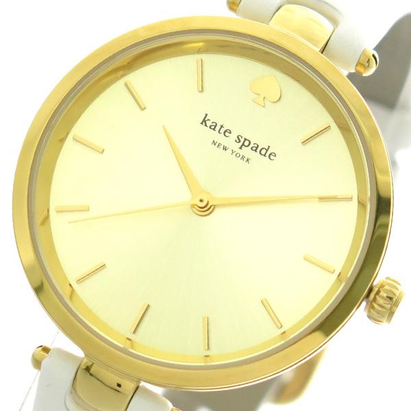 送料無料 低廉 新商品!新型 ラッピング無料 ケイトスペード KATE SPADE 腕時計 KSW1117 ホワイト レディース ゴールド クォーツ