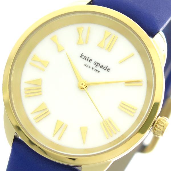 ケイトスペード KATE SPADE 腕時計 レディース KSW1246 クォーツ ホワイト ブルー【送料無料】