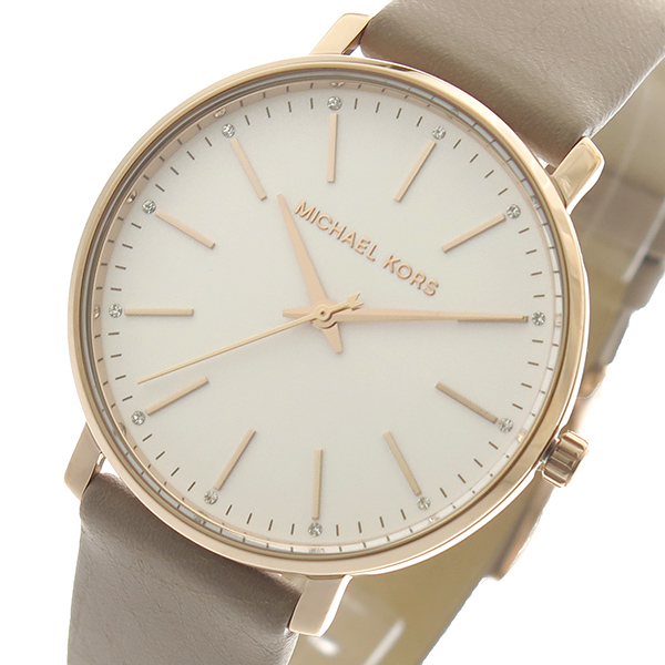 マイケルコース MICHAEL KORS 腕時計 メンズ レディース MK2748 クォーツ ホワイトシルバー ベージュ【送料無料】
