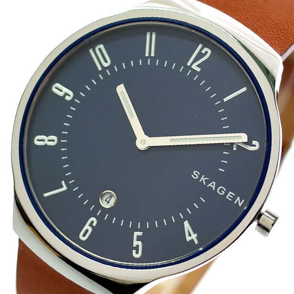 スカーゲン SKAGEN 腕時計 メンズ SKW6457 グレーネン GRENEN クォーツ ネイビー ブラウン【送料無料】