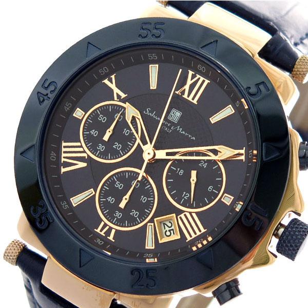 サルバトーレマーラ SALVATORE MARRA クオーツ クロノ 腕時計 時計 SM8005S-PGNV ダークネイビー ローズゴールド