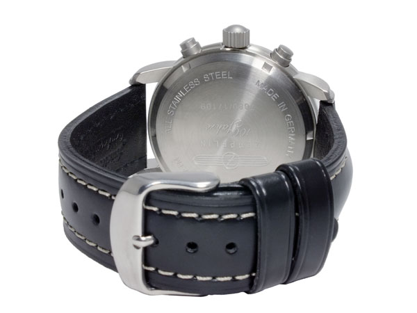 ツェッペリン ZEPPELIN 腕時計 クオーツ メンズ 7680-2S 100周年記念 コードバンカーフベルト ブラック ブラック