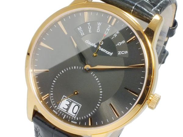 クロードベルナール CLAUDE BERNARD CLASSIC BIG DATE クオーツ メンズ 腕時計 3400437RGIR ブラック【送料無料】