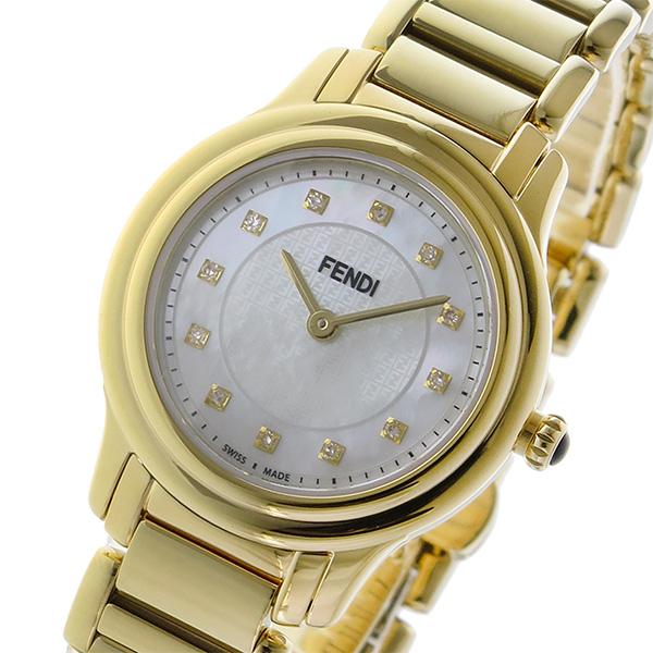フェンディ FENDI クラシコ ラウンド CLASSICO クオーツ レディース 腕時計 F251424500D1 ホワイトパール ホワイトパール【送料無料】