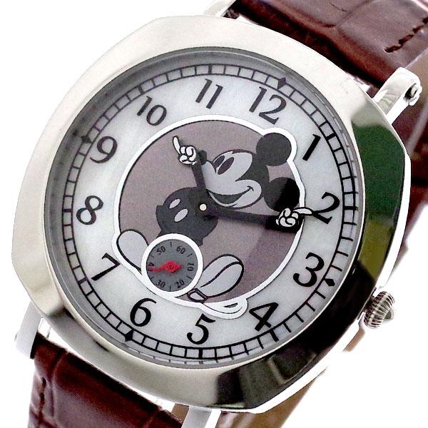 ディズニー DISNEY ミッキーマウス 腕時計 メンズ レディース MK1280B MICKEY MOUSE クォーツ ホワイト ブラウン 国内正規【送料無料】