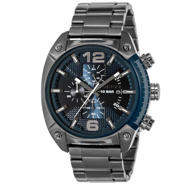 ディーゼル DIESEL オーバーフロー OVERFLOW クロノ クオーツ メンズ 腕時計 DZ4412 ネイビー【送料無料】