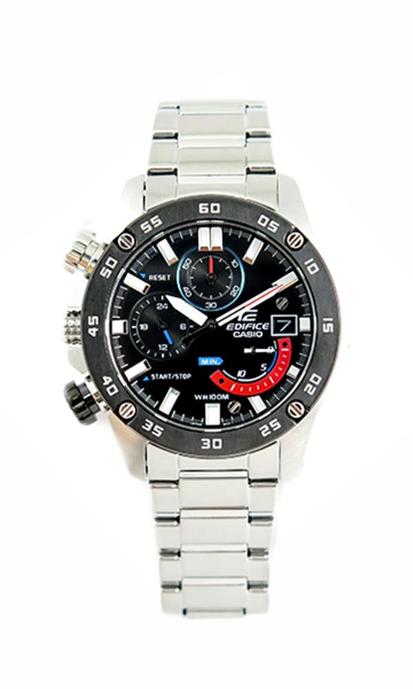 カシオ CASIO エディフィス EDIFICE 腕時計 メンズ EFR-558DB-1AV クォーツ ブラック シルバー ブラック【送料無料】