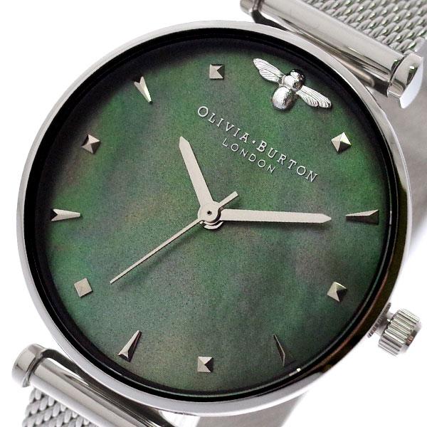 オリビアバートン OLIVIA BURTON 腕時計 レディース OB16AM151 クォーツ グリーンシェル シルバー グリーンシェル【送料無料】