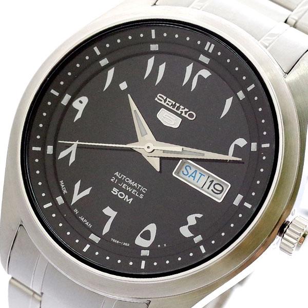セイコー SEIKO 腕時計 メンズ SNKP21J1 セイコー5 SEIKO5 自動巻き ブラック シルバー ブラック【送料無料】