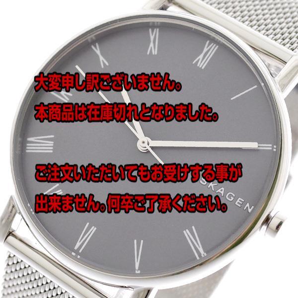 スカーゲン SKAGEN 腕時計 メンズ レディース SKW6428 シグネチャー SIGNATUR クォーツ グレー シルバー グレー