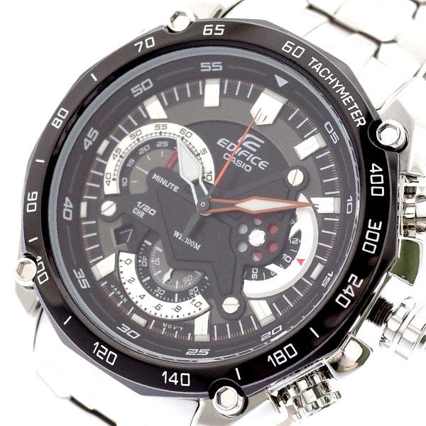カシオ CASIO 腕時計 メンズ EF-550D-1AV エディフィス EDIFICE クォーツ ブラック シルバー ブラック