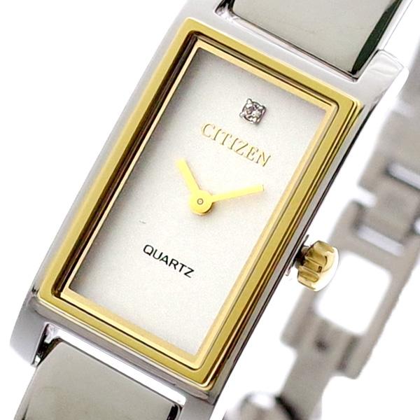 シチズン CITIZEN 腕時計 レディース EZ6364-59A クォーツ ホワイトシェル シルバー ホワイトシェル
