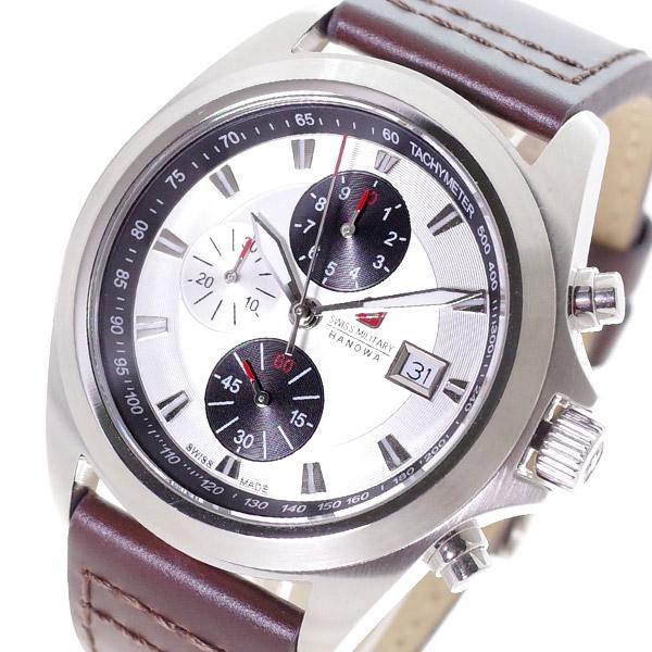 スイスミリタリー SWISS MILITARY 腕時計 メンズ ML-328 クォーツ シルバー ダークブラウン 国内正規【送料無料】:リコメン堂ファッション館