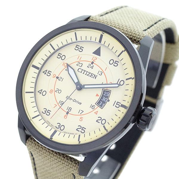 通販 シチズン CITIZEN 腕時計 メンズ AW1365-19P エコドライブ ECO-DRIVE アイボリー カーキ【送料無料】, アショログン d309cdb2