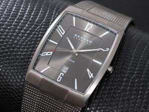 有名なブランド スカーゲン SKAGEN 腕時計 時計 チタン メンズ 851LTTM, ショウオウチョウ d32e94f9