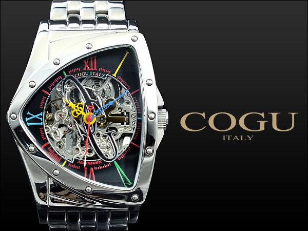コグ COGU 腕時計 流通限定モデル 自動巻き フルスケルトン BNT-BKC