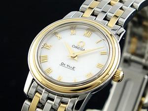 新しいエルメス オメガ OMEGA DEVILLE レディース 腕時計 43707100【送料無料】, 経典ブランド 4baa6325