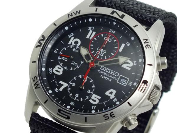 セイコー SEIKO クロノグラフ メンズ 腕時計 時計 SND399P ブラック【送料無料】
