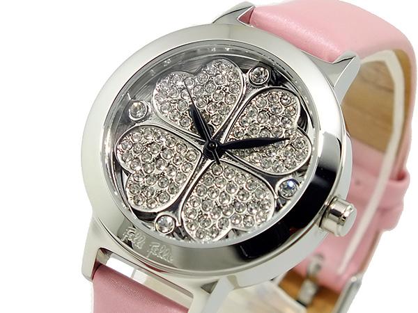 フォリフォリ FOLLI FOLLIE クリスタル フォーハート 腕時計 WF2T005SSZ-PNK【送料無料】