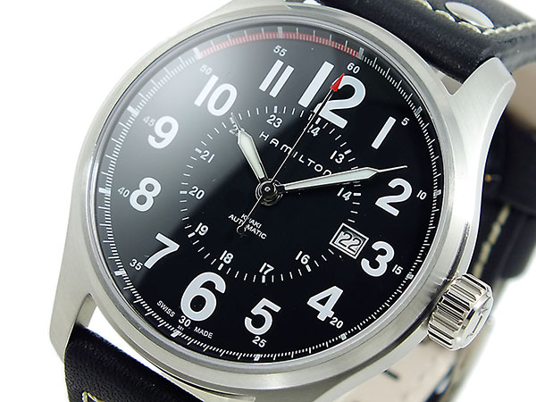 ハミルトン HAMILTON カーキ KHAKI オフィサー オート 自動巻き 腕時計 H70615733【送料無料】