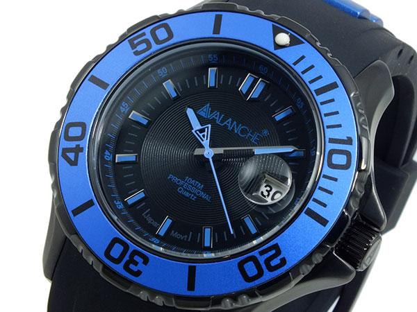 アバランチ AVALANCHE 腕時計 AV-1023S-BU ブルー×ブラック