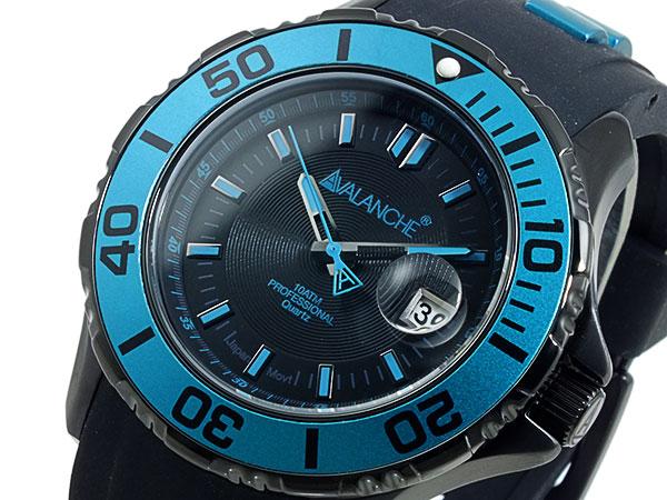 アバランチ AVALANCHE 腕時計 AV-1023S-GR ブラック×グリーン