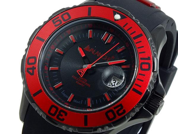 アバランチ AVALANCHE 腕時計 AV-1023S-RD レッド×ブラック
