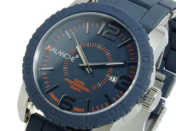 アバランチ AVALANCHE 腕時計 AV-1024-GYSIL グレー×シルバー