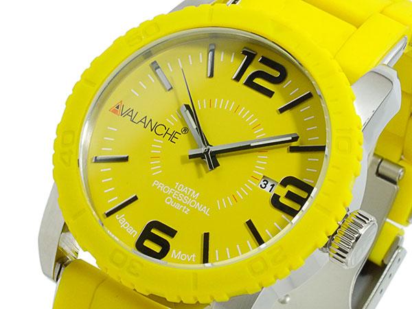 アバランチ AVALANCHE 腕時計 AV-1024-YWSIL イエロー×シルバー