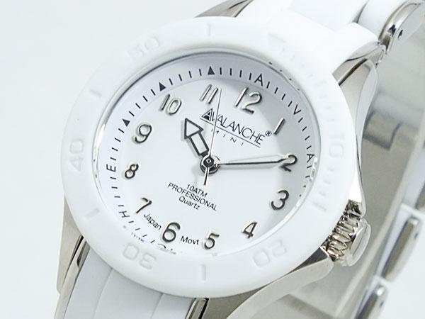 アバランチ AVALANCHE 腕時計 AV-1025-WHSIL ホワイト×シルバー