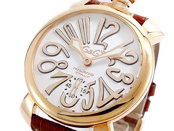 ガガミラノ GAGA MILANO MANUALE 手巻 メンズ 腕時計 5011-08S-BRW【送料無料】