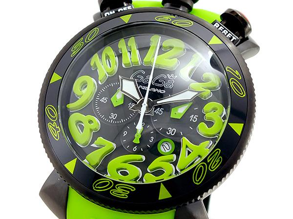 ガガミラノ GAGA MILANO クオーツ メンズ クロノ 腕時計 60542GRNRUBBER【送料無料】