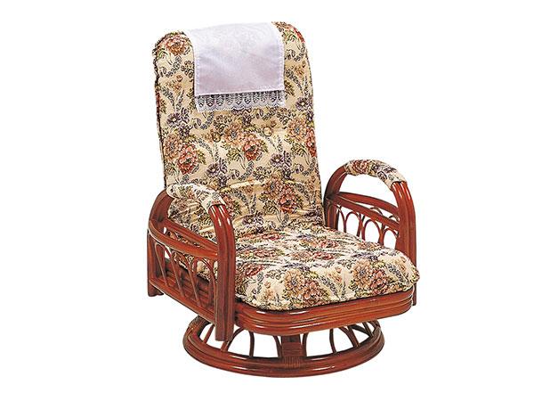 ラタンチェア RATTAN CHAIR ギア回転座椅子 RZ-922 【代引不可】【送料無料】