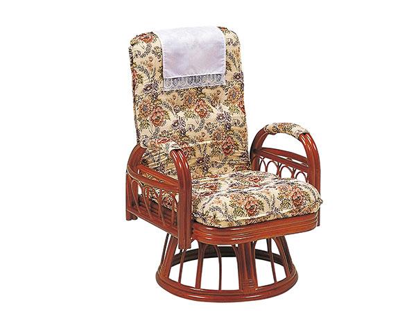 ラタンチェア RATTAN CHAIR ギア回転座椅子 RZ-923 【代引不可】【送料無料】