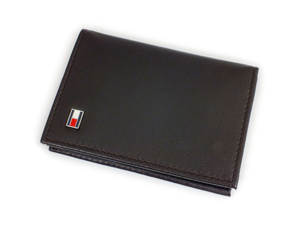 best service 5ed3e 8448f Tommy Hilfiger TOMMY HILFIGER business card holder / card case 0096-4512-02  Brown