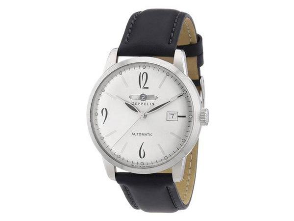 ツェッペリン ZEPPELIN フラットライン 自動巻き メンズ 腕時計 7350-4 シルバー【送料無料】