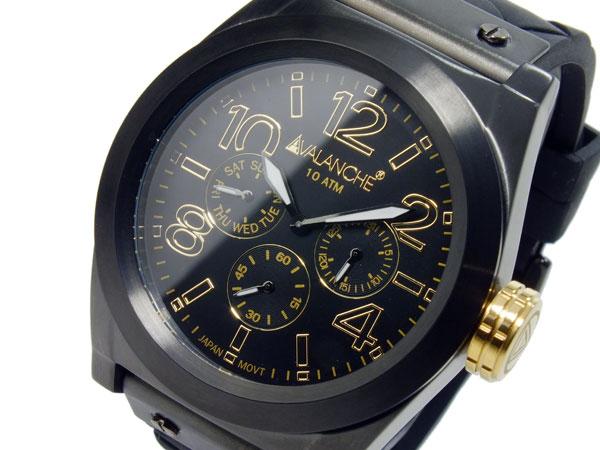 アバランチ AVALANCHE クオーツ メンズ 腕時計 AV1027-BKBK