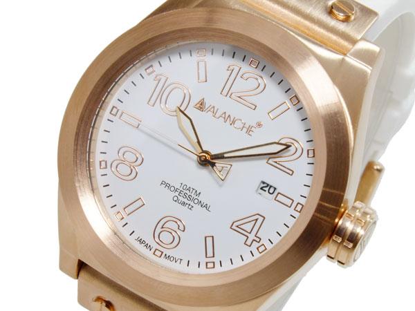アバランチ AVALANCHE クオーツ ユニセックス 腕時計 時計 AV1028-WHRG