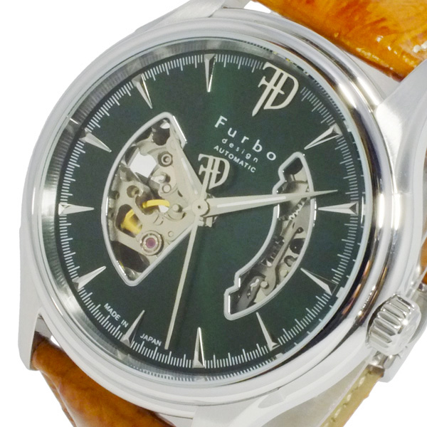 即日発送 フルボデザイン FURBO FURBO DESIGN 自動巻きメンズ 腕時計 腕時計 F5025SGRBR グリーン DESIGN【送料無料】, 三方郡:ad5e2d65 --- mail.freshlymaid.co.zw