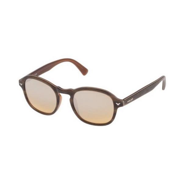 警察POLICE MASTER1太阳眼镜S1951M-NKCX 50黄褐色木材