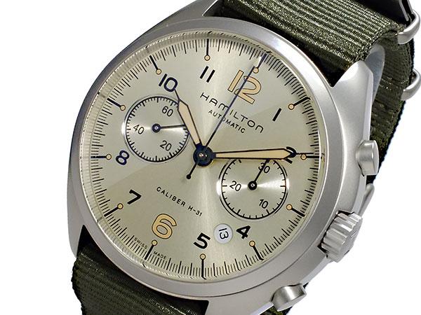ハミルトン HAMILTON カーキ パイロット パイオニア クロノグラフ 自動巻き メンズ 腕時計 H76456955【送料無料】