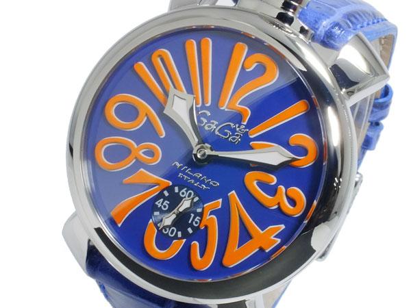 ガガミラノ GaGaMILANO マニュアーレ48 手巻き メンズ 腕時計 5010.08S-BLU【送料無料】